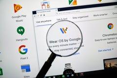 Indossi l'OS da Google fotografia stock libera da diritti