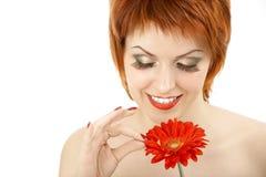 Indovinando su un fiore Fotografia Stock