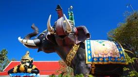 Indra on Erawan elephant and Rahu Royalty Free Stock Images