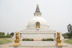 Indraprastha公园寺庙视图 库存照片