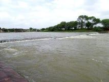 Indrayani-Fluss Stockfotografie