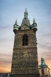Indrizhskaya Tower. In Prague at sunset in autumn Stock Photos