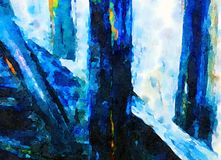 Indruk van een wtercolor onder de pijler Stock Afbeelding