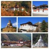 Indrukken van Bhutan Stock Afbeeldingen