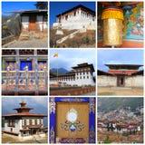 Indrukken van Bhutan Stock Afbeelding