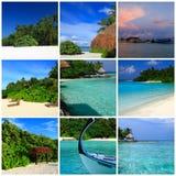 Indrukken van de Maldiven stock fotografie
