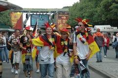 Indrukken van de Ventilatormijl Fanmeile bij de Voetbalwereldbeker 2006 in Berlijn op 30 Juni, 2006 vóór de kwartfinale betwe Royalty-vrije Stock Afbeelding