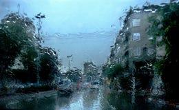 Indrukken van een regenachtige dag stock fotografie