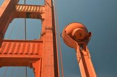Indrukken van Golden gate bridge in San Francisco vanaf 2 Mei, 2017, Californië de V.S. Royalty-vrije Stock Foto