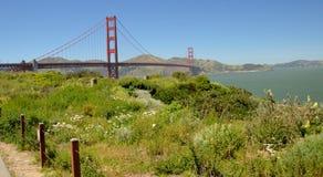 Indrukken van Golden gate bridge in San Francisco vanaf 2 Mei, 2017, Californië de V.S. Stock Fotografie