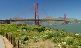 Indrukken van Golden gate bridge in San Francisco vanaf 2 Mei, 2017, Californië de V.S. Stock Foto
