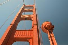 Indrukken van Golden gate bridge in San Francisco vanaf 2 Mei, 2017, Californië de V.S. Stock Afbeeldingen