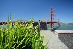 Indrukken van Golden gate bridge in San Francisco vanaf 2 Mei, 2017, Californië de V.S. Stock Foto's