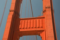 Indrukken van Golden gate bridge in San Francisco vanaf 2 Mei, 2017, Californië de V.S. Royalty-vrije Stock Afbeeldingen