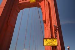 Indrukken van Golden gate bridge in San Francisco vanaf 2 Mei, 2017, Californië de V.S. Royalty-vrije Stock Fotografie