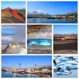 Indrukken van IJsland Stock Afbeeldingen