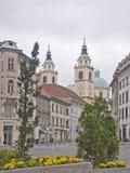Indrukken van Ljubljana in Slovenië Stock Afbeelding