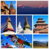 Indrukken van Nepal Stock Afbeeldingen