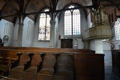 Indrukken van Oude Kerk Oude Kerk in Amsterdam, Nederland Royalty-vrije Stock Afbeeldingen