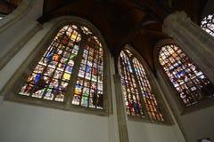 Indrukken van Oude Kerk Oude Kerk in Amsterdam, Nederland Royalty-vrije Stock Foto