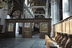 Indrukken van Oude Kerk Oude Kerk in Amsterdam, Nederland Royalty-vrije Stock Afbeelding