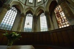 Indrukken van Oude Kerk Oude Kerk in Amsterdam, Nederland Stock Afbeeldingen