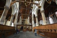Indrukken van Oude Kerk Oude Kerk in Amsterdam, Nederland Royalty-vrije Stock Fotografie