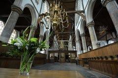 Indrukken van Oude Kerk Oude Kerk in Amsterdam, Nederland Stock Foto's
