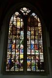 Indrukken van Oude Kerk, oude kerk in Amsterdam, Nederland Royalty-vrije Stock Afbeeldingen