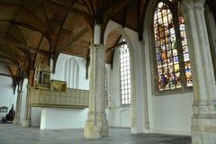 Indrukken van Oude Kerk, oude kerk in Amsterdam, Nederland Stock Afbeeldingen