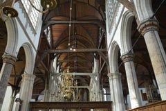 Indrukken van Oude Kerk, oude kerk in Amsterdam, Nederland Royalty-vrije Stock Fotografie