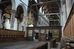 Indrukken van Oude Kerk, oude kerk in Amsterdam, Nederland Royalty-vrije Stock Afbeelding