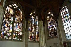 Indrukken van Oude Kerk, oude kerk in Amsterdam, Nederland Stock Foto's