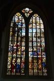 Indrukken van Oude Kerk, oude kerk in Amsterdam, Nederland Stock Foto