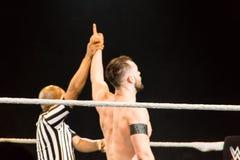 Indrukken van WWE Live Event tijdens WWE Live Tour 2017, Hamburg, Duitsland royalty-vrije stock foto