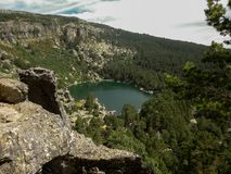 Indrukwekkend meer in Huesca royalty-vrije stock foto