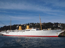 Indrukwekkend privé jacht MV Savarona Royalty-vrije Stock Fotografie