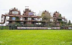 Indrukwekkende bouw bij de Gasfabriekenpark van Seattle - SEATTLE/WASHINGTON - APRIL 11, 2017 Royalty-vrije Stock Fotografie