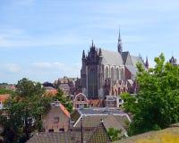 Indrukwekkende Gotische kathedraal stock afbeelding