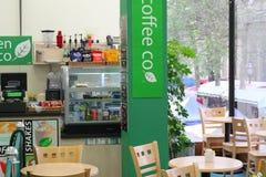 Indside咖啡店。 图库摄影