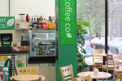 Indside a coffee shop. Stock Photography