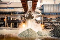 Indústria da fábrica de aço Fotos de Stock Royalty Free