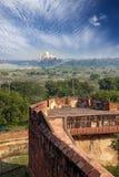 indu agra Widok Taj Mahal od ściany Czerwony fort Zdjęcie Stock