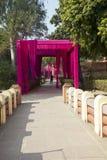 indu delikatesy Pięknie dekorujący wkład świątynny Laxmi Narayan zdjęcia stock