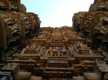 indu kama sutra khajuraho świątyni świątyń obrazy stock