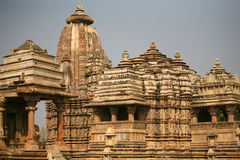 indu khajuraho rujnuje świątynię Obrazy Royalty Free