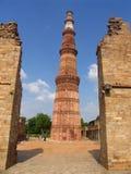 indu minar qutab delhi. Zdjęcia Royalty Free