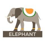 indu Turystyka Podróżny ilustracyjny indianin Nowożytny płaski projekt Indiański słoń Zdjęcie Royalty Free