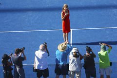 Induction ceremony for ten times Grand Slam champion Monica Seles into Court of Champions at USTA National Tennis Center Stock Photography