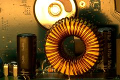 Induction Coil Royalty Free Stock Images